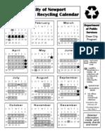 Newport Calendar 2013