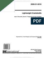 Lightweight Crankshafts