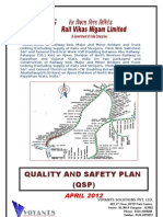 QSP - quality and safety plan for railway civil works