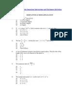 Derivatives & Their Application