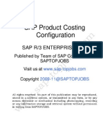 SAP CO-PC Product Costing Configuration on ECC 6.0
