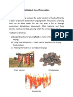 Methods of Food Preservation