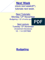 Budgeting Lecture