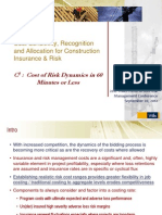 Cost Allocations for Construction Insurance and Risk - Charlie Woodman and Caroline Koenraad