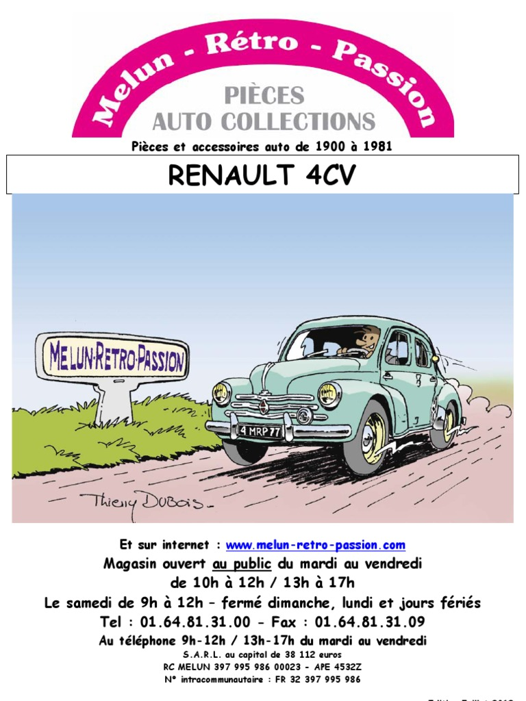 catalogue renault 4cv