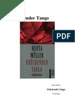 Herta Muller-Druckender Tango. Erzahlungen-Rororo (1996)