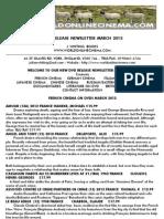 New dvd release Newsletter March 2013 www.worldonlinecinema.com