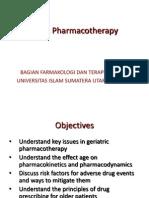 Geriatric Pharmacotherapy