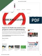 Experta de Radio Isla Somete Ante Proyecto Contra El Cyverbullying