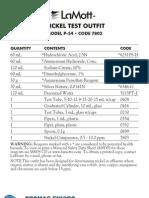 LaMotte 7802 Nickel P-54 Octet Comparator Kit Instructions