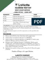 LaMotte 4497-DR Chlorine PCT-DR Direct Reading Titrator Kit Instructions