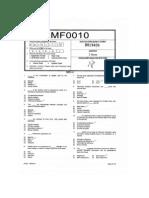 SMU MBA 3rd Sem Model question paper