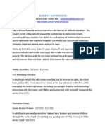 VP Director Wealth Management in USA Resume Robert Roomsburg
