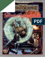 Tsr 9485 Forgotten Realms the Secret of Spiderhaunt