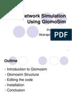 Glomosim Simulator