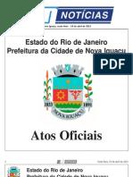 DIARIO OFICIAL DE NOVA IGUAÇU - 19 DE ABRIL DE 2013.