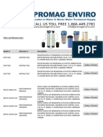 Filters and Filtration Unit Model Numbers