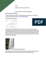 Tata Cara Pemasangan Baja Ringan
