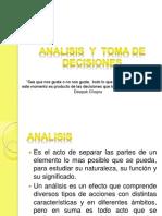 Analisis y Toma de Decisiones