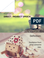13. Structure, Direct-Indirect Speech
