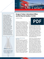 Energy in Turkey's International Affairs and the Race for Southern Corridor