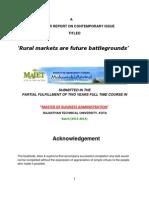 Abhinav - Rural Markets Are Future Battlegrounds