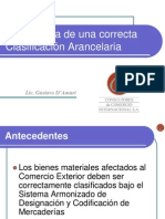 Clasificacion Arancelaria CCI Gustavo DAmuri(1)