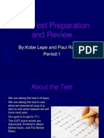 CST Test Preparation and Review