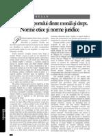 Problema raportului dintre morală şi drept.