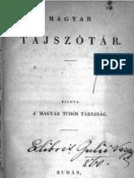 Magyar Tájszótár 1838.