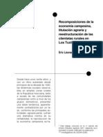1. Reestructuración de las clientelas rurales en Los Tuxtlas, Veracruz
