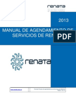 Manual de Agendamiento de Servicios RENATA