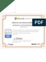 Certificado Microsoft 2013
