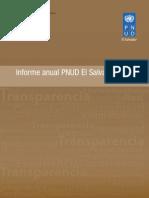 Informe Anual PNUD El Salvador 2010
