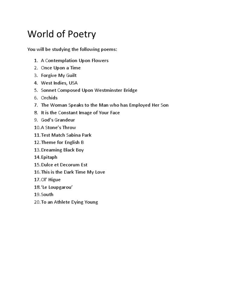 ol higue poem