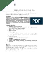 Pauta de Presentacion Proyecto Tesis 230710