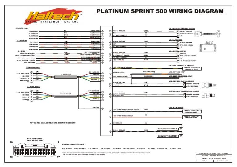 Platinum Sprint 500 Wiring Rev F | Fuel Injection | Automotive | Sprint Car Wiring Diagram |  | Scribd