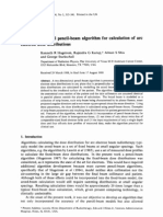 A Two-dimensional Pencil-beam Algorithm for Calculation of Arc Electron Dose Distributions