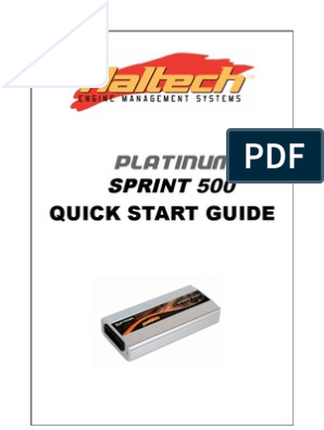 Haltech Platinum Sprint 500 Manual | Fuel Injection ... on