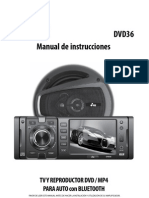 Instrucciones autoestereo YES PK-DVD36
