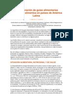 Elaboración de guías alimentarias basadas en alimentos en paises de A. Latina