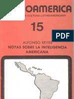 Reyes Alonso Notas Sobre La Inteligencia Americana(1)
