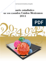 Anuario Estadístico México, 2011 INEGI