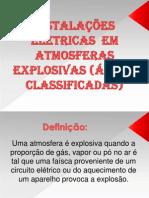 INSTALAÇÕES  ELÉTRICAS  EM  ATMOSFERAS  EXPLOSIVAS (ÁREAS CLASSIFICADAS.pptx