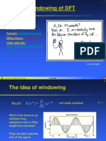 Lecture 06 - DFT Windiwing