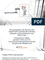 PMP Sample Exam Questions Set 6