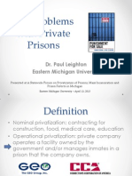 Problems With Private Prisons (2013)