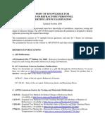 Body of Knowledge for API 936 Exam