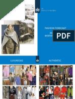 CBI Fashion Forecast Preview Winter 2013-2014