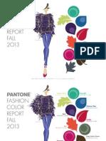 Pantone Fcr Fall 2013